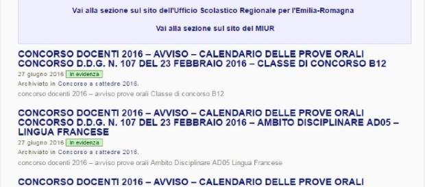 calendari aggiornati delle prove orali concorso docenti 2016