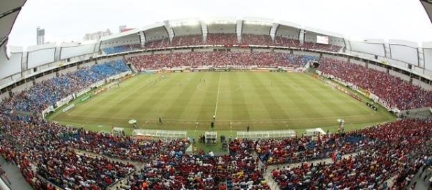 Fla-Flu: mais de 25 mil presentes na Arena das Dunas (Foto: Alexandre Lobo/Globoesporte.com)