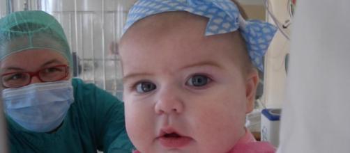 Bambina affetta da ADA - SCID o bambina bolla