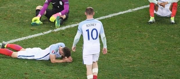 Inglaterra foi derrotada, de virada, pela Islândia