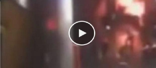 Vídeo mostra momento de atentado
