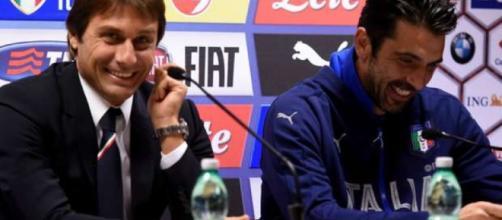 Conte e Buffon felici in conferenza stampa