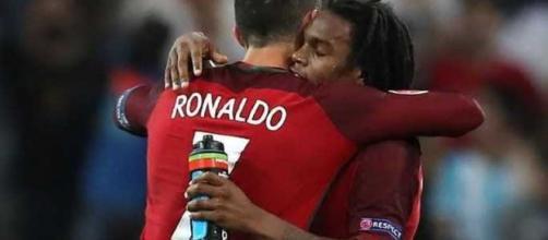 Cristiano Ronaldo e Renato Sanches