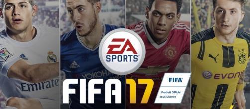 FIFA 17 con James Rodriguez, Eden Hazard, Anthony Martial e Marco Reus