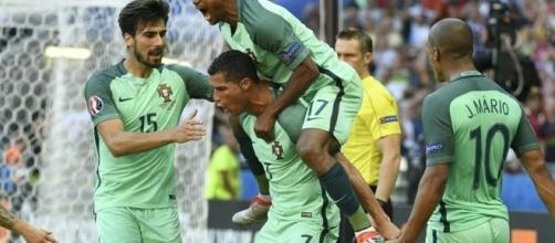 Portugal se classificou para as quartas-de-final vencendo a Croácia na prorrogação. (Foto: Divulgação UEFA Euro)