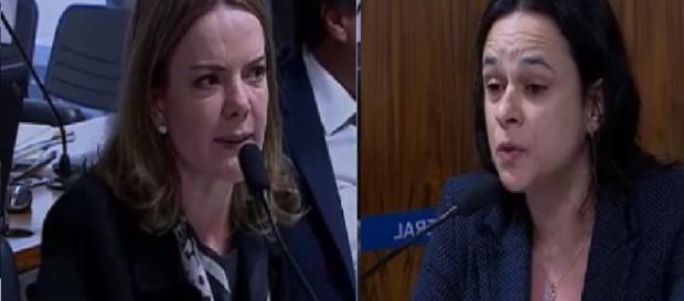 Gleisi Hoffmann e Janaína Paschoal fazem barraco no Senado