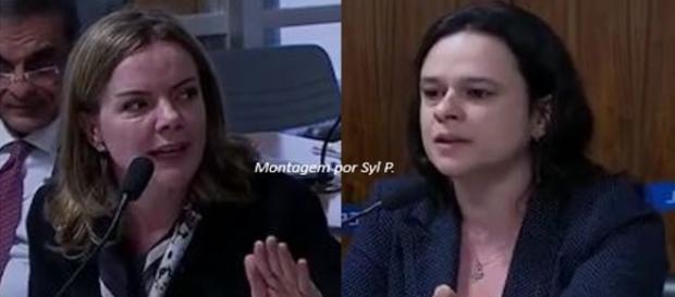 Gleisi Hoffmann se irrita em discussão com Janaína Paschoal