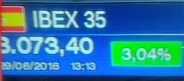 Ibex 35 avanza a media jornada
