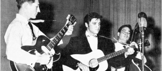 Scotty Moore con Elvys Presley