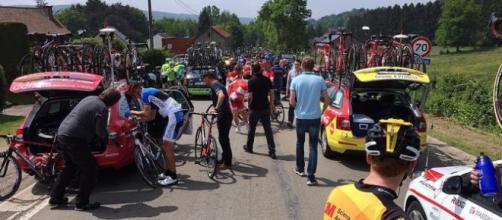 Le conseguenze di una caduta al Giro del Belgio