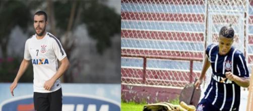 O volante Bruno Henrique e o atacante Caio Emerson geram dor de cabeça para a diretoria do Corinthians