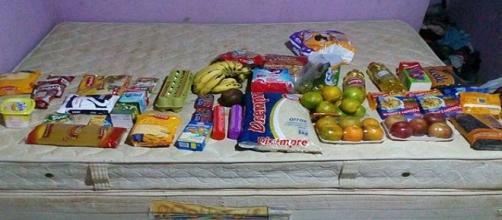 Policiais doaram alimentos para família de ladrão que roubou para comprar comida
