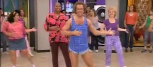 Richard Simmons in one of his many workout videos / via YouTube