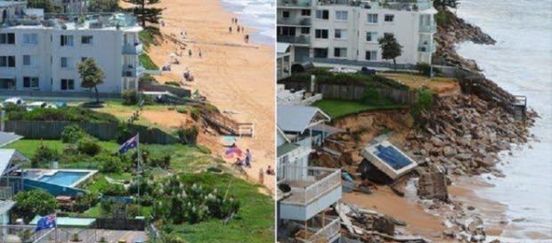 El antes y el después de Collaroy Beach