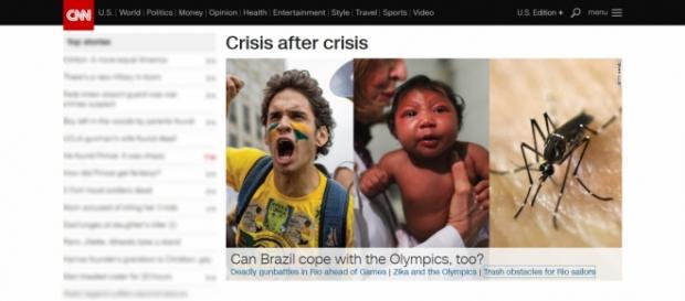"""Matéria de capa da CNN: """"Uma crise após a outra"""""""