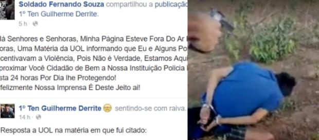Soldado Fernando Souza faz sua defesa no Facebook