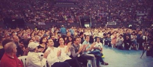 Asamblea de Podemos con Carolina Bescansa, Errjeón Pablo Iglesias y Monedero
