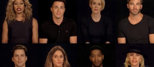 Imágenes de algunos de los 49 famosos que aparecen en el vídeo.