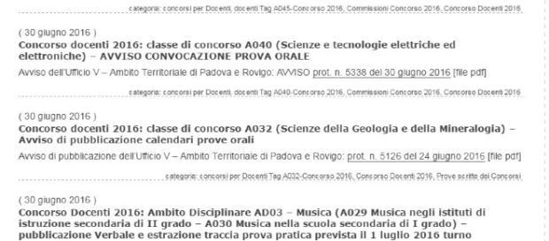 Pubblicazione calendari orali concorso docenti 2016.