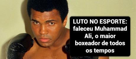 Luto no esporte: Muhammad Ali faleceu ontem nos Estados Unidos - Foto: Reprodução Huffingtonpost