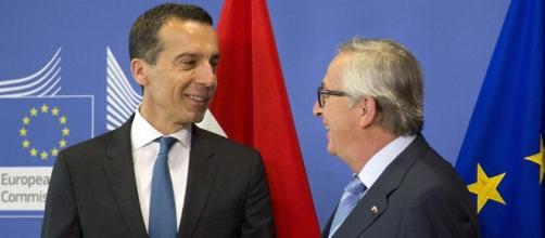 Christian Kern e Jean-Claude Juncker a Bruxelles