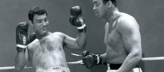 I grandi Muhammad Ali e Rocky Marciano