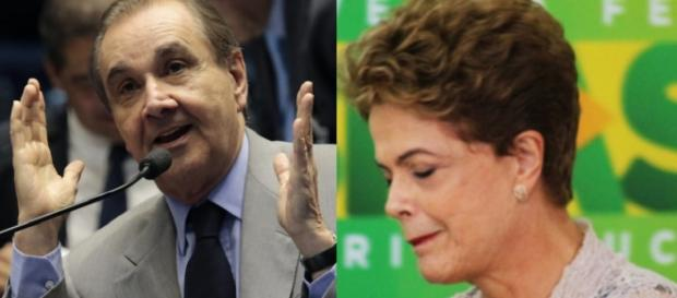 Senador e Dilma Rousseff - Foto/Montagem