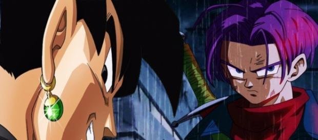 Trunks del futuro vs Black Gokú