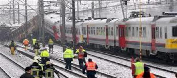 I soccorritori sul luogo dell'incidente
