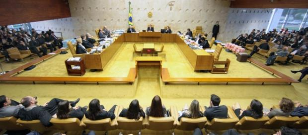 Plenário do Supremo Tribunal Federal (STF), em Brasília, que julga processos da Operação Lava-Jato, da PF.