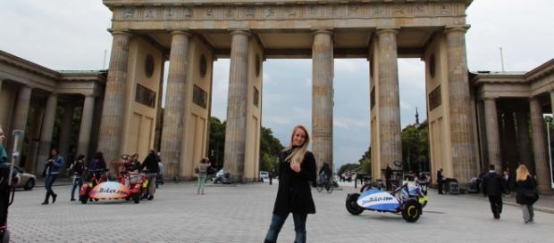 Portal de Brandemburgo, cartão-postal na Alemanha