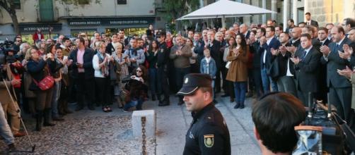 Acto de repulsa ante los atentados en Francia el pasado mes de noviembre.