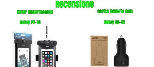 Recensione Custodia impermeabile Aukey PC-T6 e caricabatterie auto CC-S3