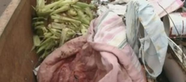 Bebê é encontrado em caçamba de lixo mas não sobrevive