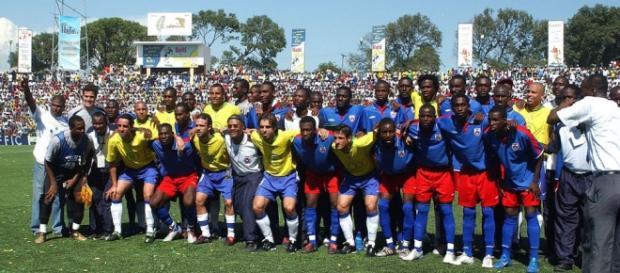 Jogadores haitianos reverenciavam os brasileiros.