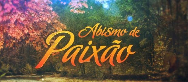 """Logotipo """"Abismo de Paixão"""" (Imagem/Divulgação: SBT)"""