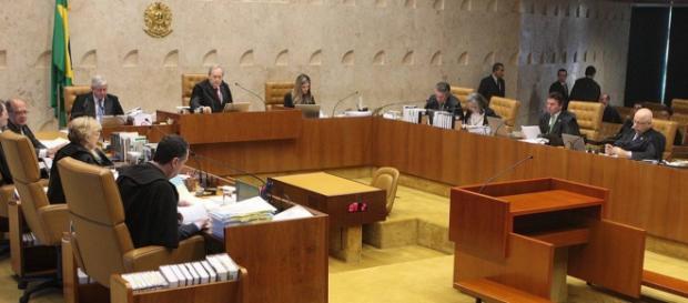 Plenário do Supremo Tribunal Federal, durante análise de processos.