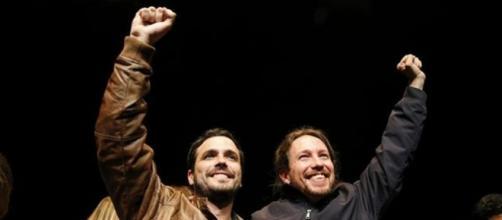 Alberto Garzón y Pablo Iglesias (Unidos Podemos)