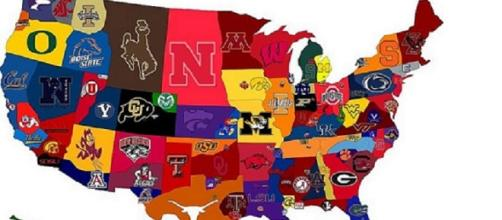 College Football Map courtesy of Flickr.com