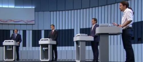 Debate a 4 entre los candidatos a presidentes del Gobierno