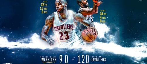 LeBron e Irving cuajaron un excelente partido y devolvieron la ilusión a Cleveland