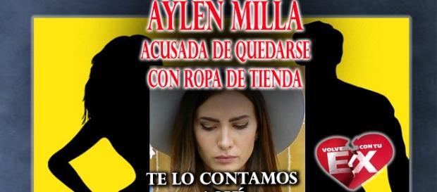 Acusación contra Aylén Milla por ropa
