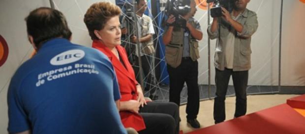 Dilma Rousseff grava para a EBC