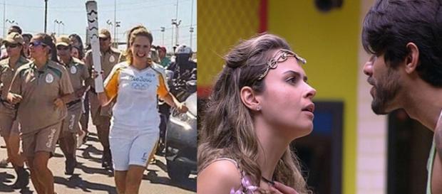 Ana Paula representou o símbolo olímpico no Brasil