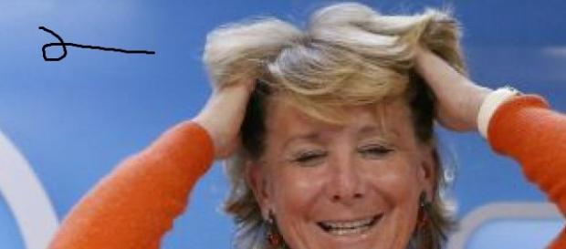 Esperanza Aguirre en una foto de tiempo atrás.