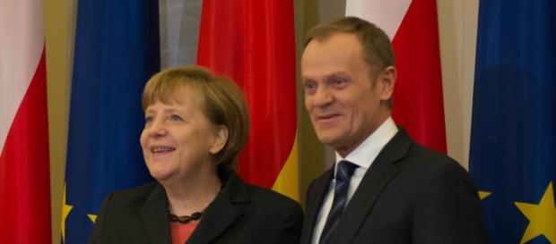 Kanclerz Niemiec i Donald Tusk