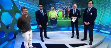 Luciano Huck se atrasa para comentar jogo do Brasil