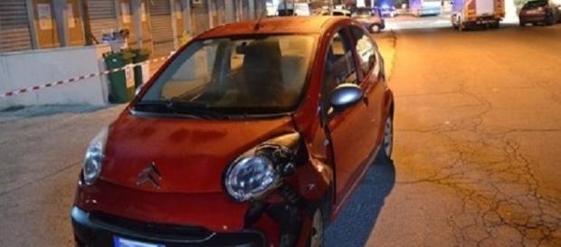 L'auto che ha travolto il bambino di 10 anni ad Ardea