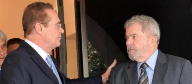 Lula se aproxima de Renan para salvar Dilma do impeachment