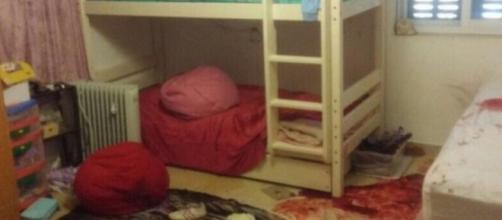 Así quedó la habitación después del ataque
